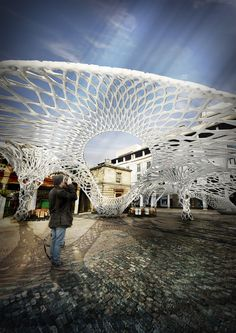 Osteobotics - biodegradable temporary structures. Courtesy of AADRL, AA School, London, UK. [via ArchDaily]