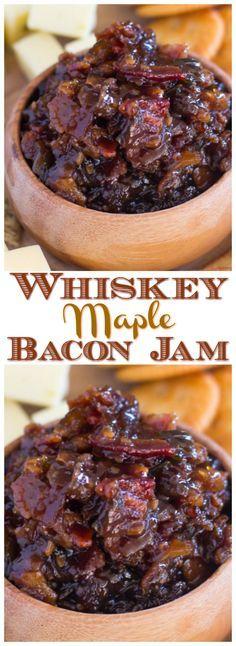 Jelly Recipes, Bacon Recipes, Jam Recipes, Canning Recipes, Holiday Recipes, Canned Bacon Jam Recipe, Maple Bacon Onion Jam Recipe, Bacon Meals, Whiskey Recipes