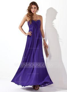 Empire Sweetheart Floor-Length Chiffon Evening Dresses With Ruffle Beading  - JJsHouse 1d83276b8913