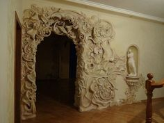 17 Best images about Plaster Art Plaster Art, Plaster Walls, Art Nouveau, Art Deco, Tadelakt, Home Wallpaper, Wall Sculptures, Architecture Details, Home Art