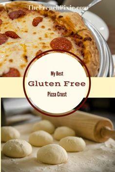 The Best Gluten-Free Pizza Crust - Florence Gluten Free Flour, Gluten Free Cooking, Vegan Gluten Free, Dairy Free, Cooking Recipes, Pizza Recipes, Easy Gluten Free Pizza Crust, Gluten Free Breakfasts, Gluten Free Desserts