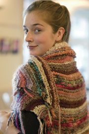 A shawl with Earth tones will compliment any outfit. This free knitting pattern will not only look great, but keep you warm too! Let others admire your great fashion sense!  Ashely's Knit Shawl    Easy    Knitting Needle Size: 15 or 10 mm    Yarn Weight: (4) Medium Weight/Worsted Weight and Aran (16-20 stitches to 4 inches)