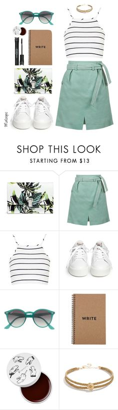 """""""~Run away with me tonight~"""" by maloops ❤ liked on Polyvore featuring Proenza Schouler, Topshop, Ash, Ray-Ban, Brika, too cool for school, LULUS, CasualChic, summeroutfit and funstyle"""