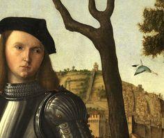 Vittore Carpaccio. Young knight in a landscape (detail), 1510.