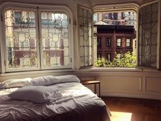 """gravityhome: """" Amazing bedroom with beautiful windows Follow Gravity Home: Blog - Instagram - Pinterest - Facebook """""""