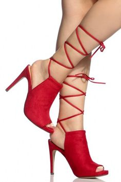 654a698eee2 Look Fashionable with Attractive Pairs of Red High Heels · Red High Heel  ShoesPeep ...