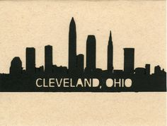 Skyline of Cleveland Ohio