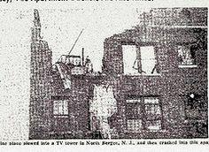 Newspaper photo of 1956 plane crash