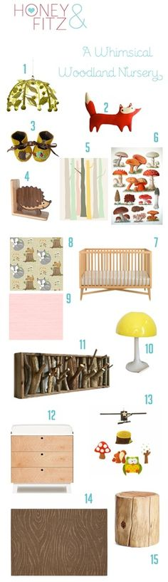 woodland nursery ideas. I deft want this theme because we can totally do Sebby, Luxy, Eylan and  the new one's room in the apartment