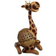 Coconut Shell Giraffe Lamp from Tong-Ta Coconut Wine, Coconut Shell, Giraffe Lamp, Shells, Lights, Giraffes, Philippines, Animals, Interior