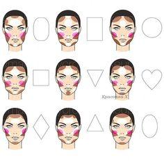 схема макияжа овального лица - Поиск в Google