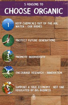 5 reasons to choose #organic