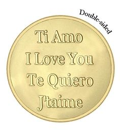Mi Moneda Large Gold Plated Baby Feet/Te Quiero Coin from Michael Jones Jeweller