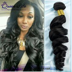 Loose Brazillian virgin hair loose wave 3pcs 4pcs lots natural black color Ali queen hair product loose body wave brazilian hair