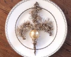 Antique Christmas Ornament  Victorian Mercury Glass and Tinsel by smilemercantile, $33.50