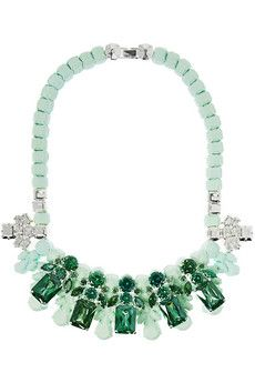 Ek Thongprasert Queen silver-plated, cubic zirconia and silicone necklace
