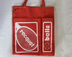 ddefbafcd85c93 racquetball | white and red | gym bag | vintage / retro Gym Bags, Lunch