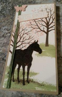 Notizblock mit Pferd Frühling