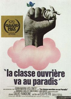 French poster for THE WORKING CLASS GOES TO HEAVENaka LULU THE TOOL (Elio Petri, Italy, 1972)