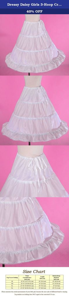 Dressy Daisy Girls 3-Hoop Crinoline Petticoat Slip Underskirt For Girl Dresses Length 25 Inches White. This petticoat is perfect for dancing, flower girl dress, communion dress or pageant dress and other formal dresses. For the shipments fulfilled by seller, it takes 8-12 working days to deliver. For those buyers who are outside USA, it may takes a little longer time. We offer expedited delivery service as well. For details, please refer to our shipping information. If you have any…