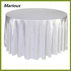 Free shipping 180*180cm satin wedding table cloth round cloth decoration white cloth  #Affiliate