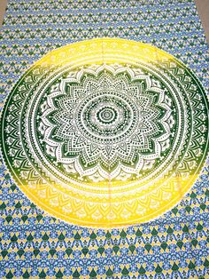 Twin Hippie Ombre Indian Mandala Tapestry Wall Hanging Beach Throw Boho Decor #Unbranded #ArtDecoStyle