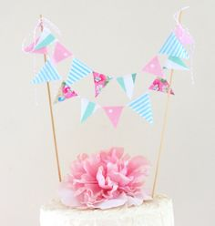 Vintage+Fabric+Cake+Bunting+Seaside+by+bluebirdandviolet+on+Etsy,+$14.00