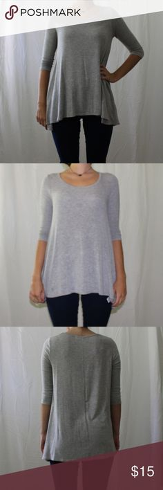 Gray 3/4 sleeve shirt Casual gray shirt never worn Urban Outfitters Tops