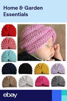 UK Newborn Baby Boy Girls Turban Knitt Head Wear Fall Kids Winter Beanie-Hat  Cap 171454c7ea75
