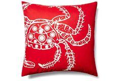 Crab 20x20 Outdoor Pillow, Red on OneKingsLane.com