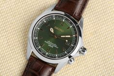 Get the lowest price on the Seiko Alpinist Watch and discover the best watches, boots and denim from the Men's Style enthusiast community on Massdrop. Trendy Watches, Luxury Watches For Men, Cool Watches, Antique Watches, Vintage Watches, Seiko Alpinist, Dream Watches, Expensive Watches, Seiko Watches