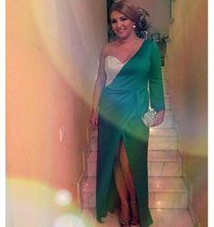 Emerald dress with an oriental twist, created by SinebySeila Designer Shop www.sinebyseila.com
