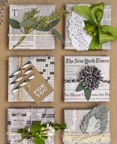 30 Ideas para decorar un presente con reciclado y con amor - Vida Lúcida