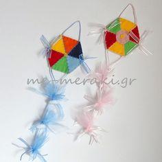 Μπομπονιέρες βάπτισης, χειροποίητοι εξάγωνοι αετοί (9 cm) felt, σε διάφορα χρώματα.  Χειροποίητη μπομπονιέρα βάπτισης, τσόχα. Με Μεράκι Μπομπονιέρες Χειροποίητες μπομπονιέρες www.me-meraki.gr
