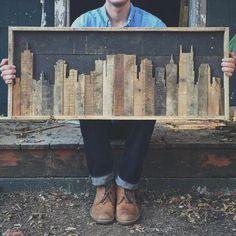 Ted's Woodworking Plans Ligne dhorizon rustique Nashville Tennessee par crtcreative sur Etsy Get A Lifetime Of Project Ideas & Inspiration! Step By Step Woodworking Plans Reclaimed Wood Projects, Diy Pallet Projects, Woodworking Projects Diy, Teds Woodworking, Pallet Ideas, Diy Wood Projects For Men, Reclaimed Lumber, Woodworking Chisels, Wooden Projects