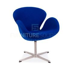 Arne Jacobsen Style Swan Chair - Cashmere Blue Fabric , Chair - FSWorldwide, FSWorldwide  - 2