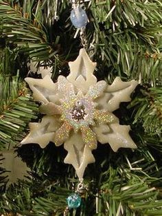 DIY Poly Clay  Beads Snowflake Christmas Ornament