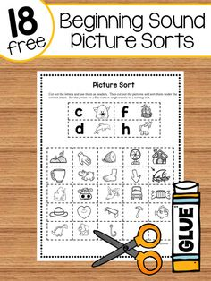 18 beginning sound picture sorts