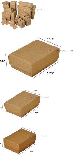 Jewelry Boxes 3820 50 Pcs Matte Black Cotton Filled Jewelry Gift