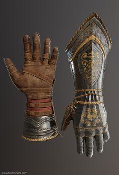 ArtStation - Gauntlets, Eric J Fitch Armadura Cosplay, Armadura Medieval, Armor Clothing, Medieval Clothing, Arm Armor, Body Armor, Roman Armor, Fantasy Armor, Fantasy Weapons