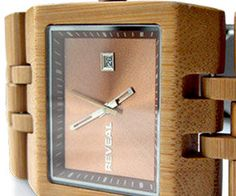 Bamboo has come to the fore on the wave of green trends. It's that wood that's readily abundant, pretty to look at, and has many applications. And now we can add watchmaking to them: Reveal's Bamboo watch uses the wood in the housing and band, creating a look that's decidedly different while remaining classic and sharp.