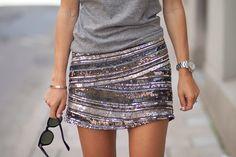 looks con faldas de lentejuelas - Buscar con Google