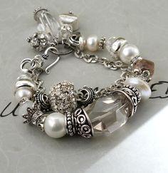 Holiday Sale bracelet candlelight crystal quartz by molliecarey