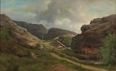 Ferdinand von Wright: Strömsholm in Morlanda Parish on the Island of Orust, 1884. Private collection.