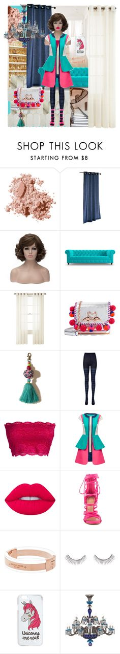 """""""Untitled #359"""" by lolakelley ❤ liked on Polyvore featuring Bobbi Brown Cosmetics, Pier 1 Imports, Joybird, Royal Velvet, Sophia Webster, Hollister Co., Uniqlo, Lattori, Lime Crime and ALDO"""