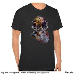 Pop Art Steampunk Diver's Helmet Tees