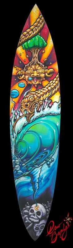 Drew Brophy - Percession 2012 the Return of Quetzalcoatl on Surfboard