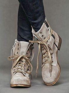 Ladies Lace Combat Boots