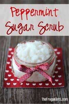 Peppermint Sugar Scrub Recipe at TheFrugalGirls.com