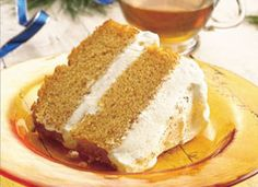 Pumpkin Angel Food Cake with Creamy Ginger Filling